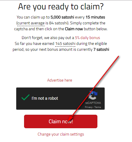 Claim now