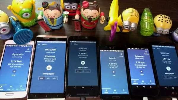 доходность разных телефонов в майнинге