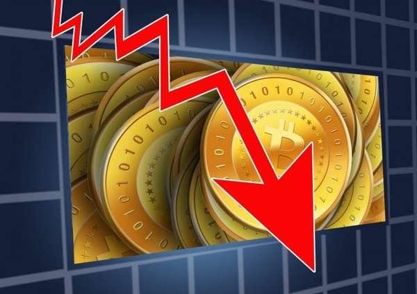 в 2018 году курс биткоина упал