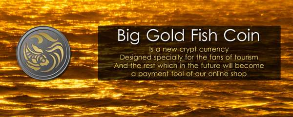 big gold fish coin