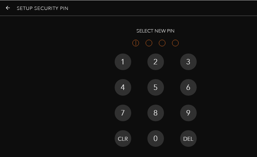 Установка ПИН-кода
