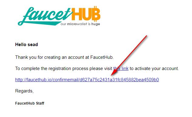 faucethub кошелек регистрация