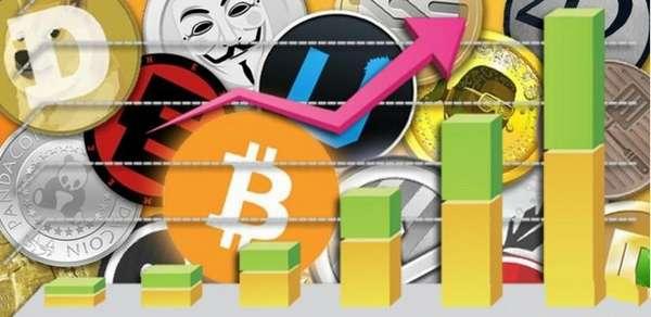 графики самых быстрорастущих криптовалют
