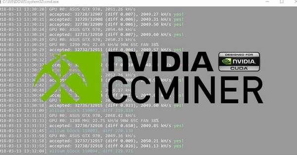 CCMiner для CUBA от nVidia
