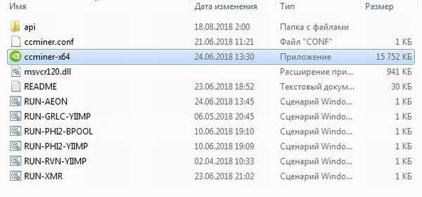 распаковка архива ccminer