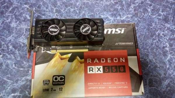 Radeon RX 550 2gb для майнинга