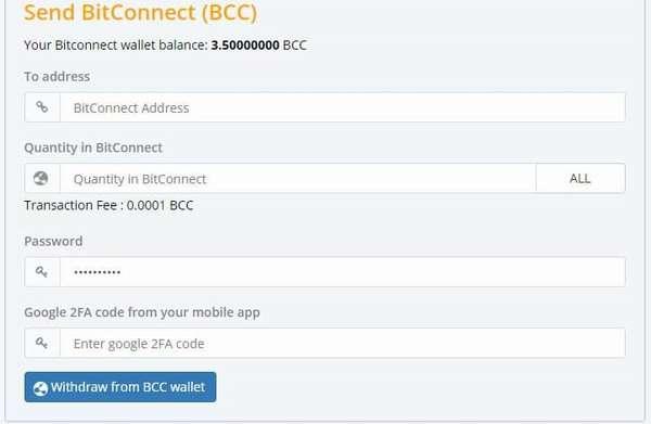Как вывести BitConnect (BCC) после закрытия лендинг-программы