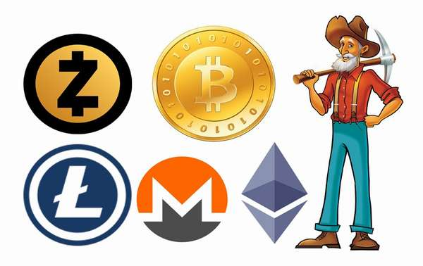 графики сложности майнинга криптовалют