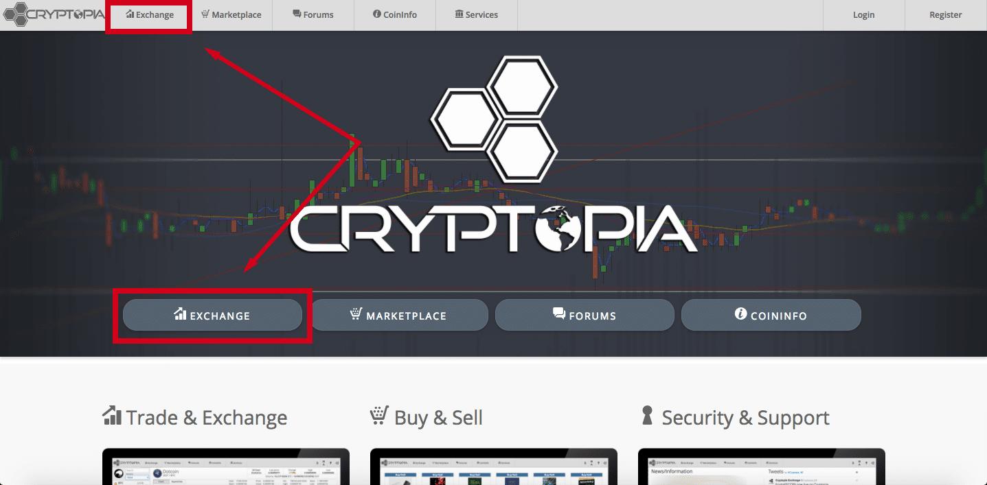кнопки обмена криптопией