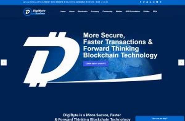 DigiByte криптовалюта с блокчейном на 5 различных алгоритмах