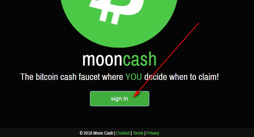 Кран moon cash -получение Bitcoin Cash