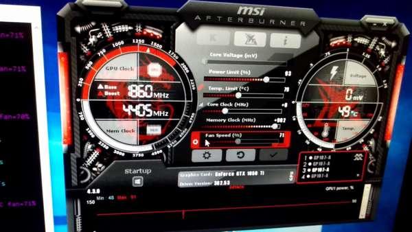 разгон GTX 1050 Ti для майнинга биткоинов