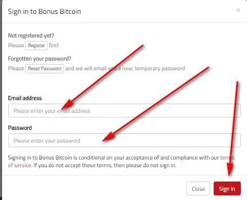 Вход в bonusbitcoin.co