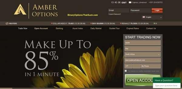 amber options сайт