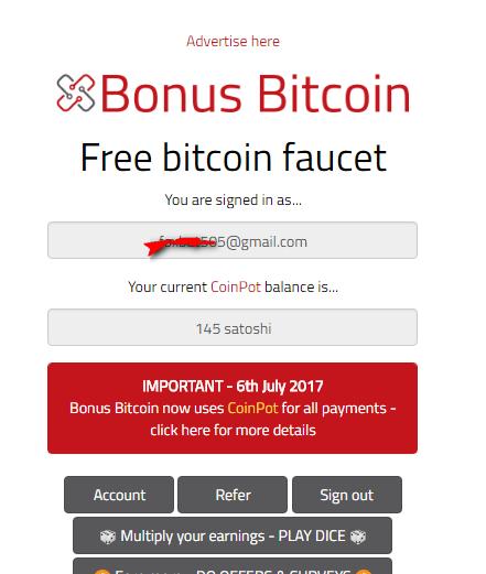 Bonus bitcoin кран позволяет заработать Сатоши без вложений